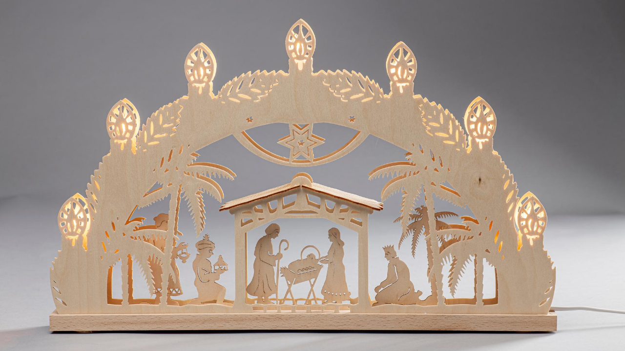 Lighted Arch (Schwibbogan) - Classic - Nativity