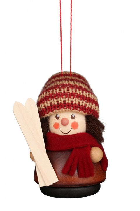 Little gnome Christmas tree decoration - Skier