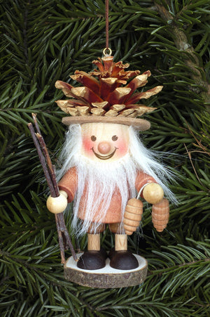 Large gnome Christmas tree decoration - Fir-cone gnome