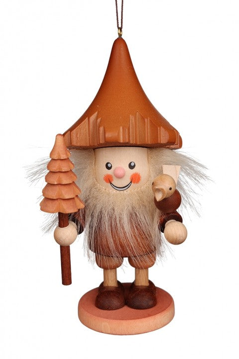 Large gnome Christmas tree decoration -  Woodsman with Bird