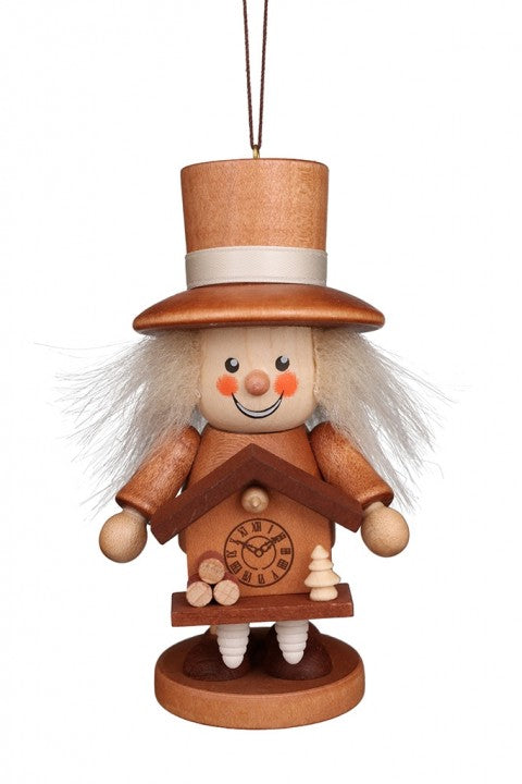 Large gnome Christmas tree decoration -  Cuckoo Clock Maker (Natural)