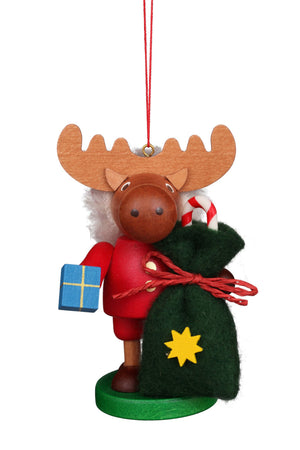 Large gnome Christmas tree decoration - Christmas Moose (Colourful)