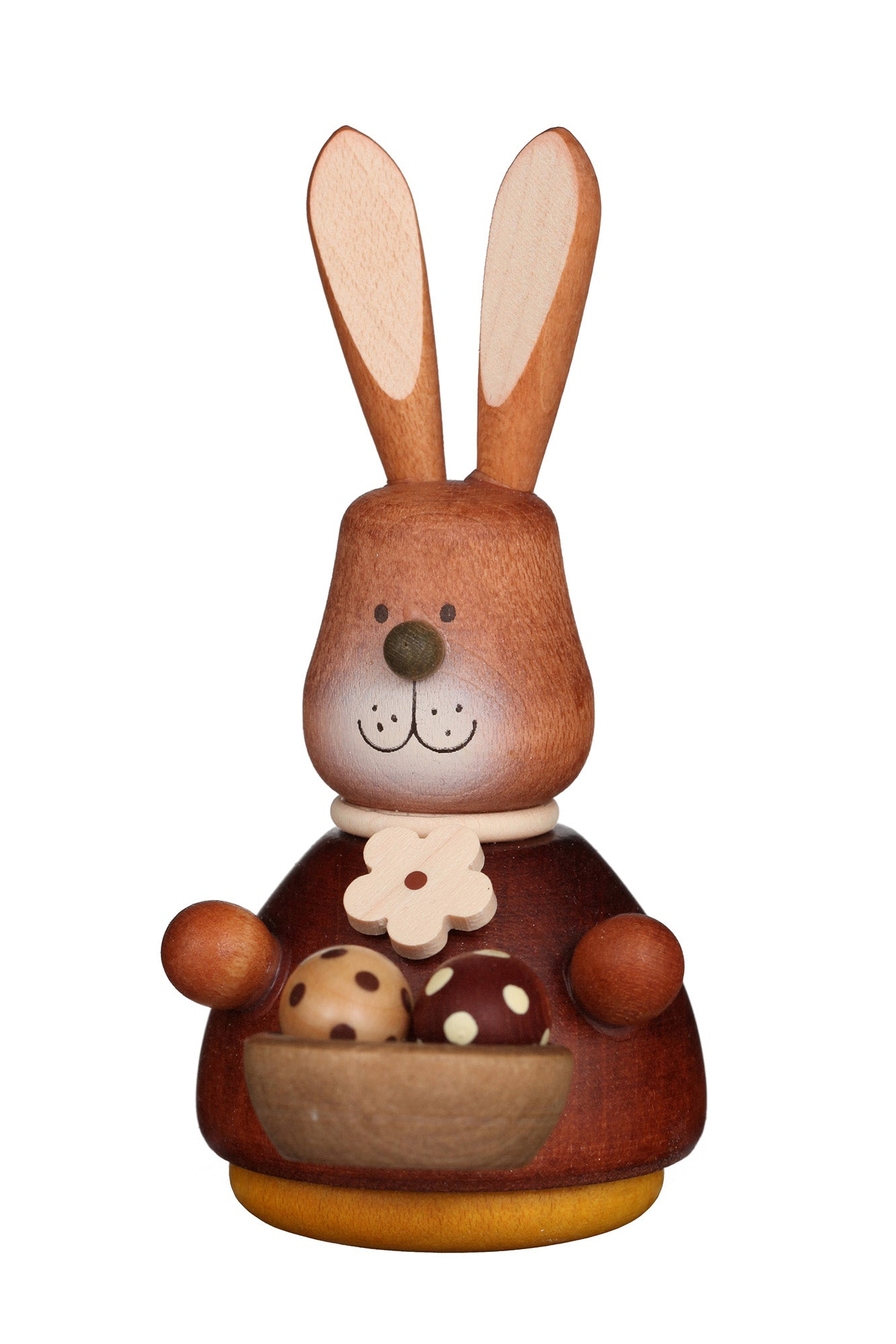 Easter bunny wobble figure with basket of eggs