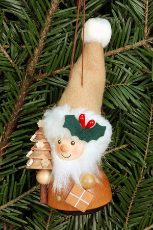Little gnome Christmas tree decoration - Natural Santa's helper
