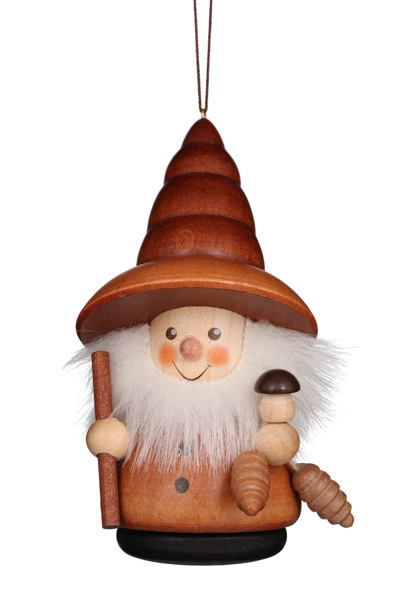 Little gnome Christmas tree decoration - Natural forest gnome