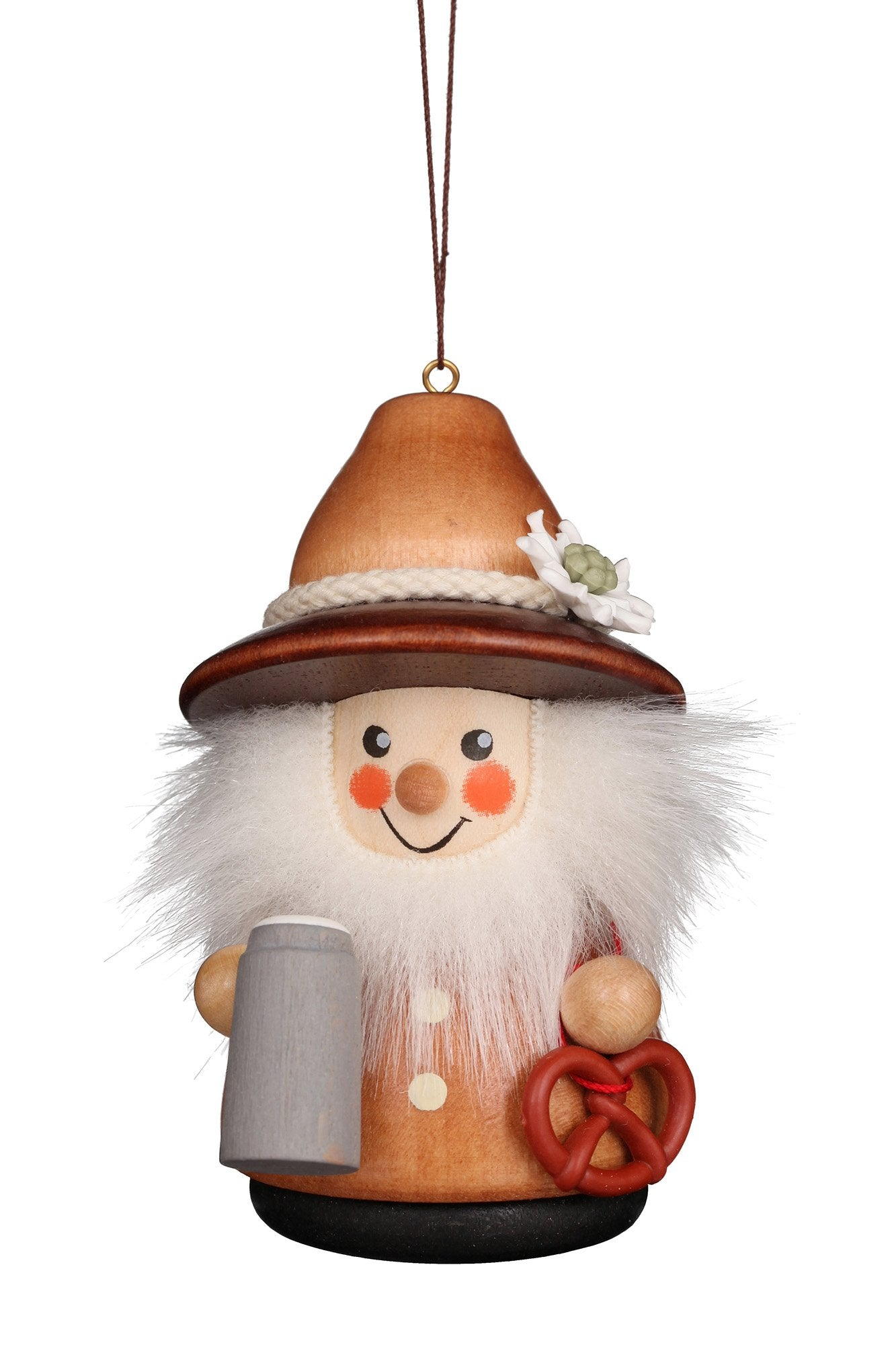 Little gnome Christmas tree decoration - Bavarian (Natural)