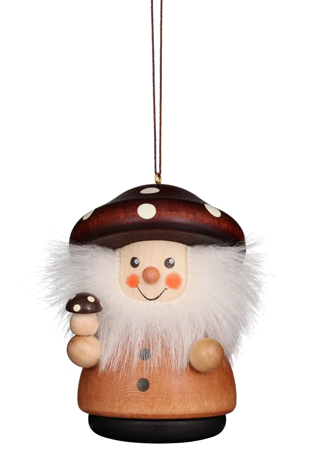 Little Gnome Christmas Tree Decoration - Natural Mushroom Man