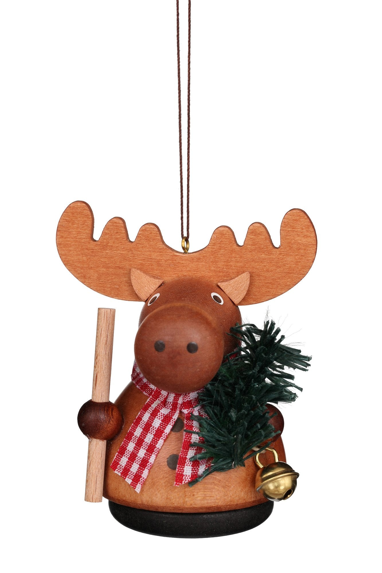 Little Gnome Christmas Tree Decoration - Natural moose