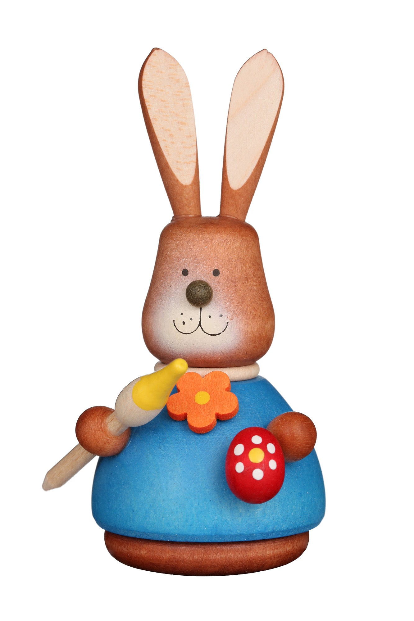 Easter bunny wobble figure - Colourful Paintbrush