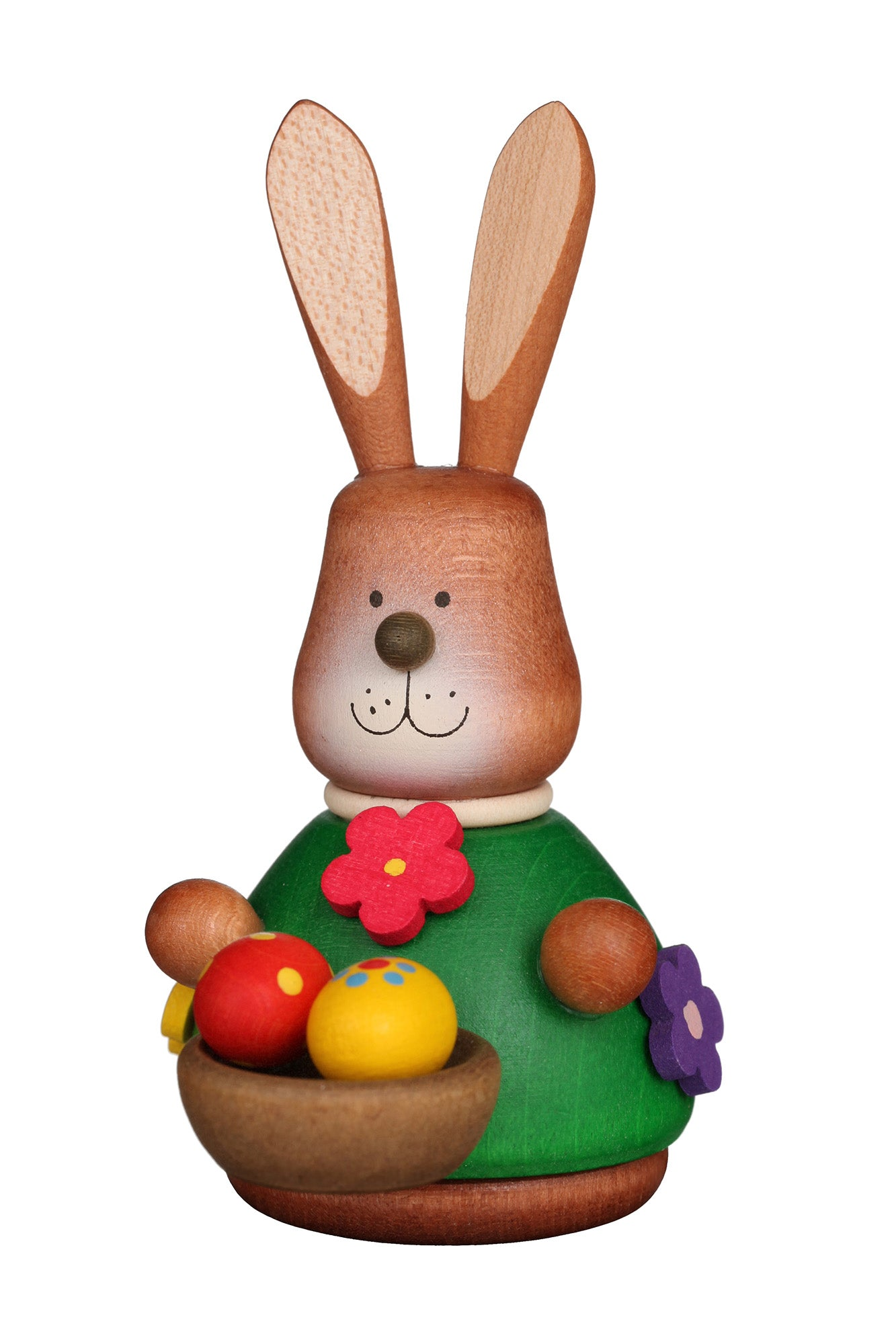 Easter bunny wobble figure - Colourful Basket of Eggs