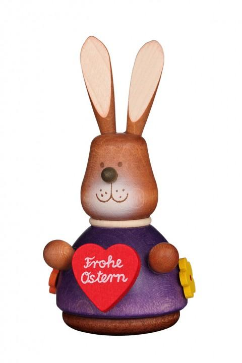 Easter bunny wobble figure with Love-heart