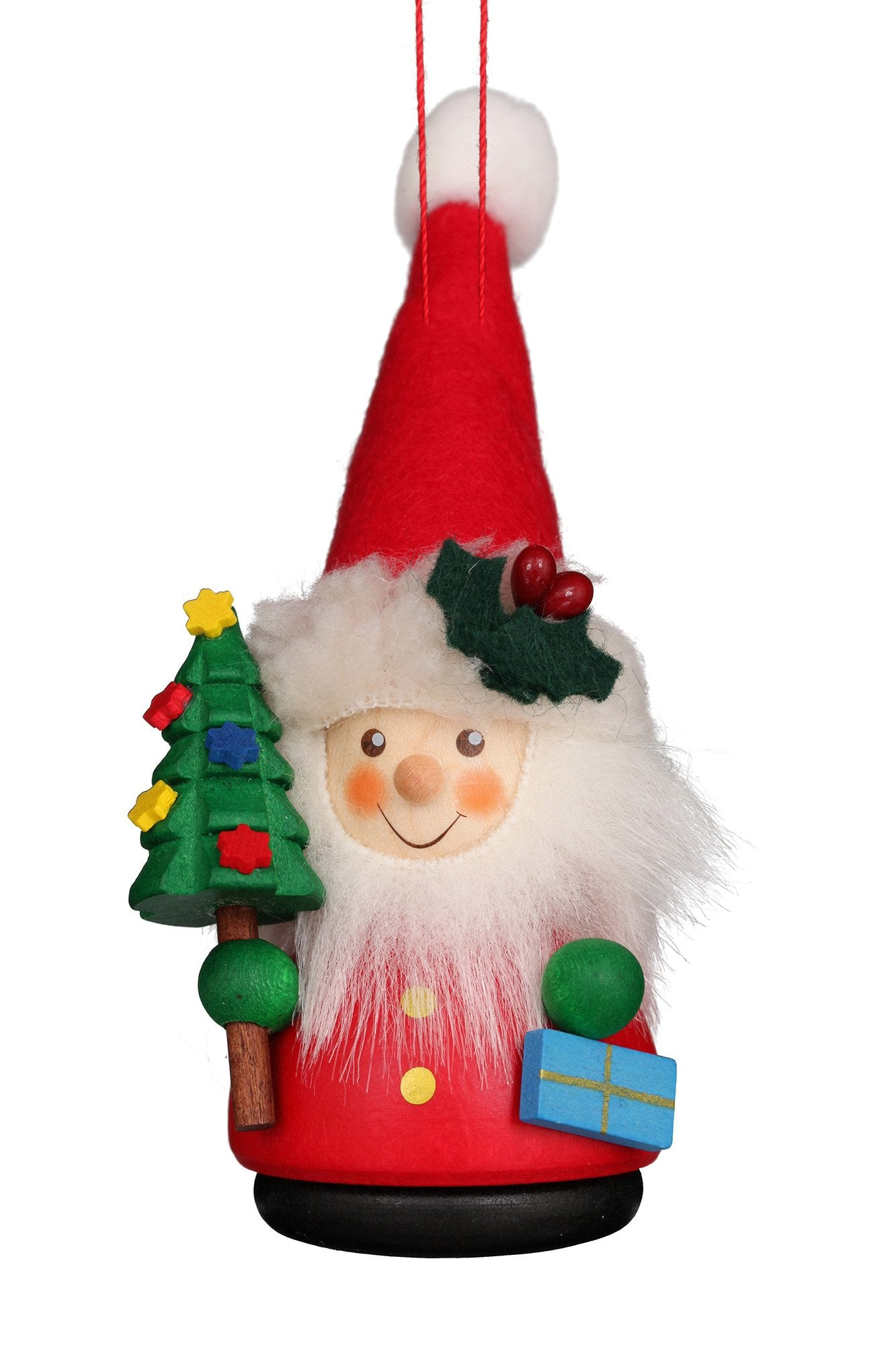 Little gnome Christmas tree decoration - Colourful Santa's helper