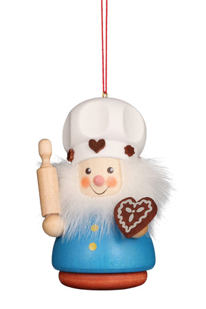 Little gnome Christmas tree decoration - Colourful gingerbread baker