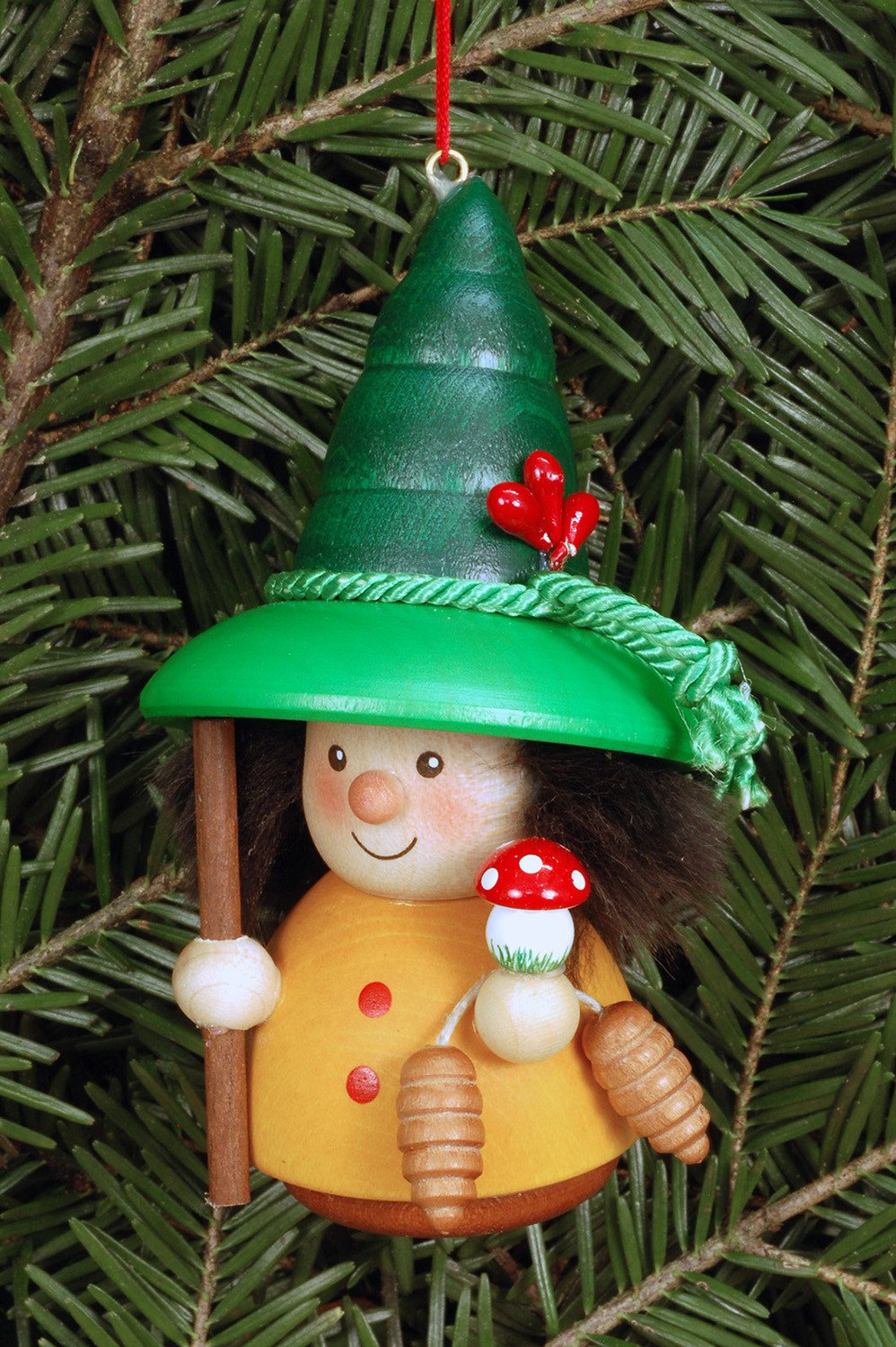 Little Gnome Christmas Tree Decoration Colourful Forest Gnome The German Christmas Shop Usa