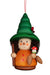 Little gnome Christmas tree decoration - Colourful forest gnome