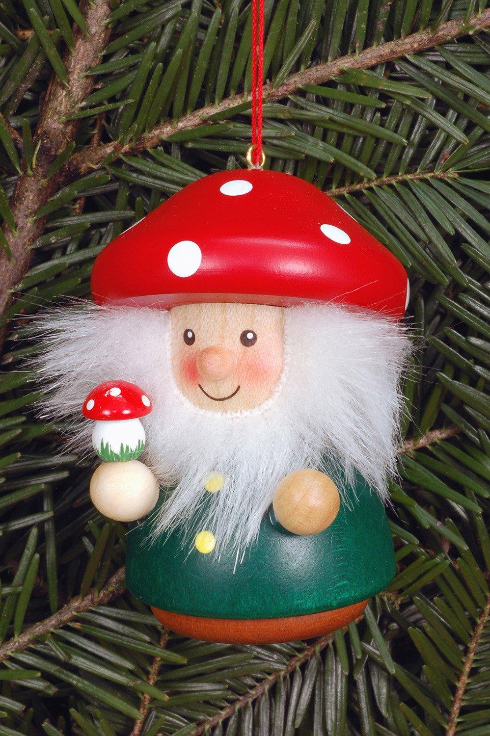 Little Gnome Christmas Tree Decoration Red Mushroom Man The German Christmas Shop Usa
