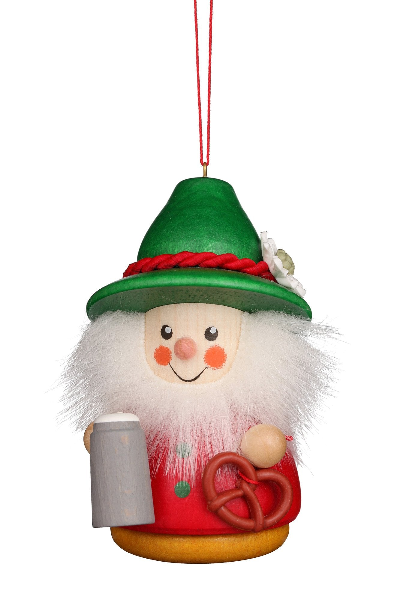 Little Gnome Christmas tree decoration - Bavarian (Colourful)
