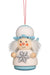 Little gnome Christmas tree decoration - Snowflake angel