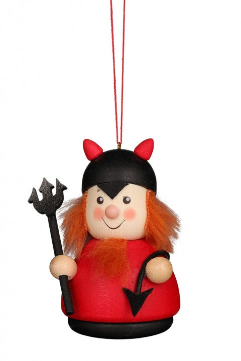 Little gnome Christmas tree decoration - Trick or Treater in Devil Costume