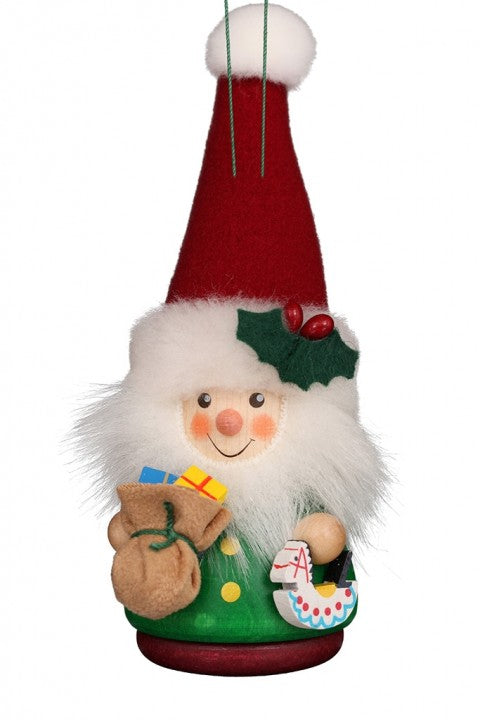 Little gnome Christmas tree decoration - Santa in Red and Green