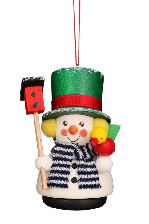 Little gnome Christmas tree decoration - Snowman with Birdhouse