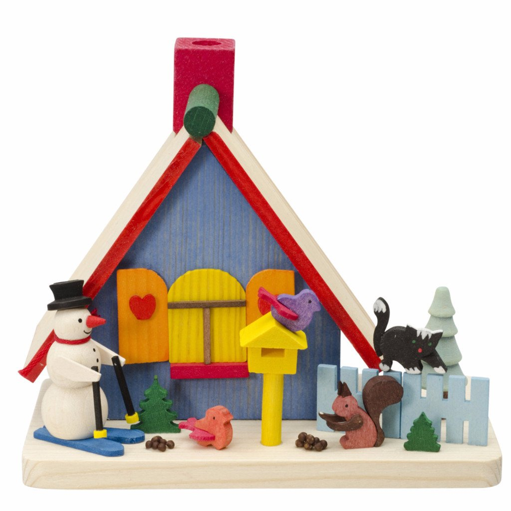 Incense Burner (House) - Snowman and Christmas Forest Friends