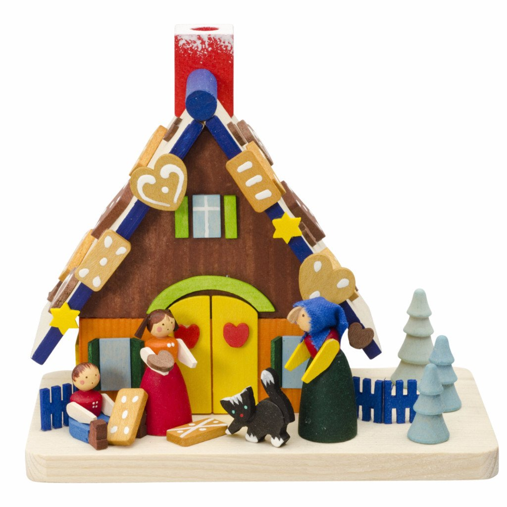 Incense Burner (House) - Gingerbread House with Hansel & Gretel
