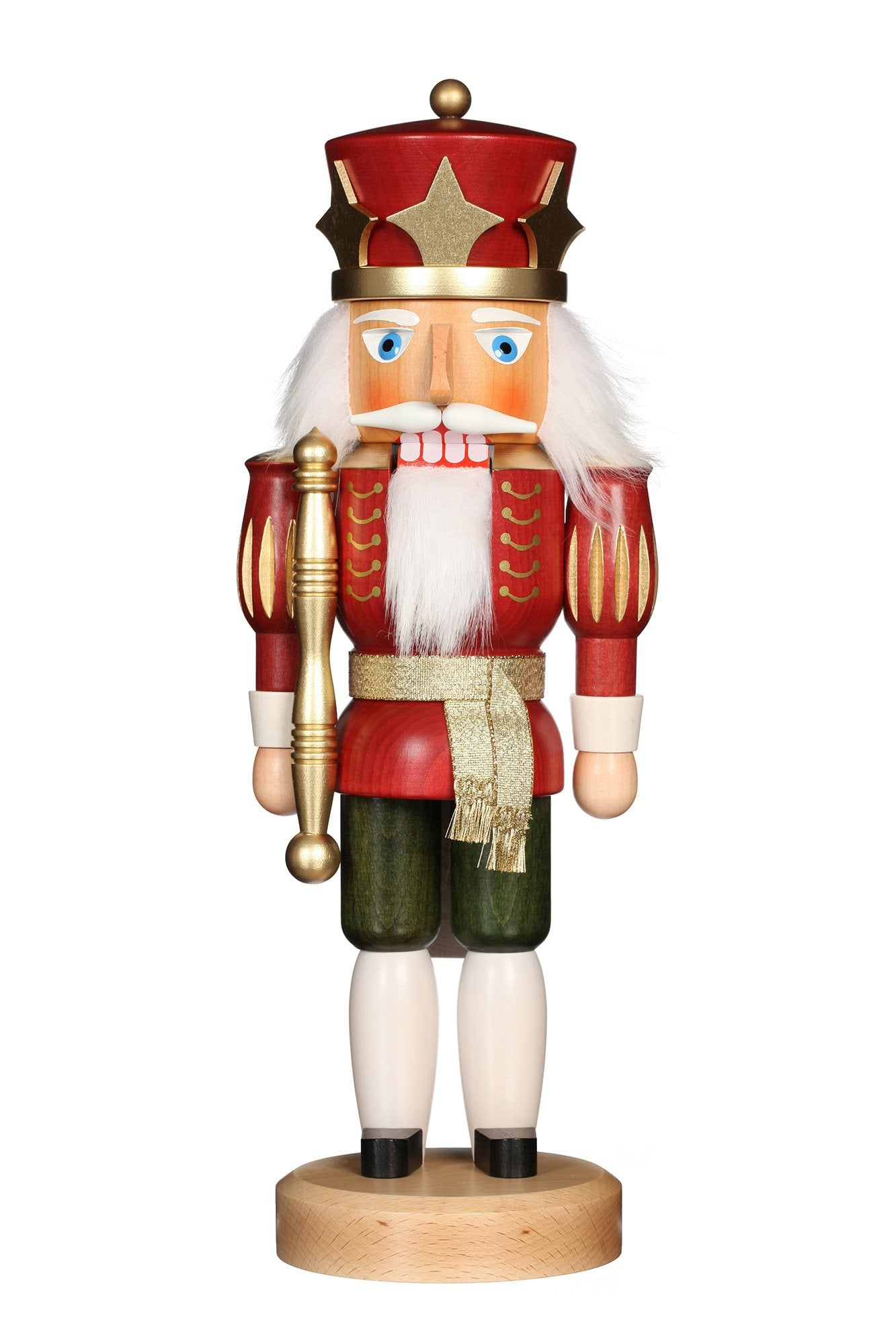 Nutcracker (Classic) - King in Gloss Red and Green