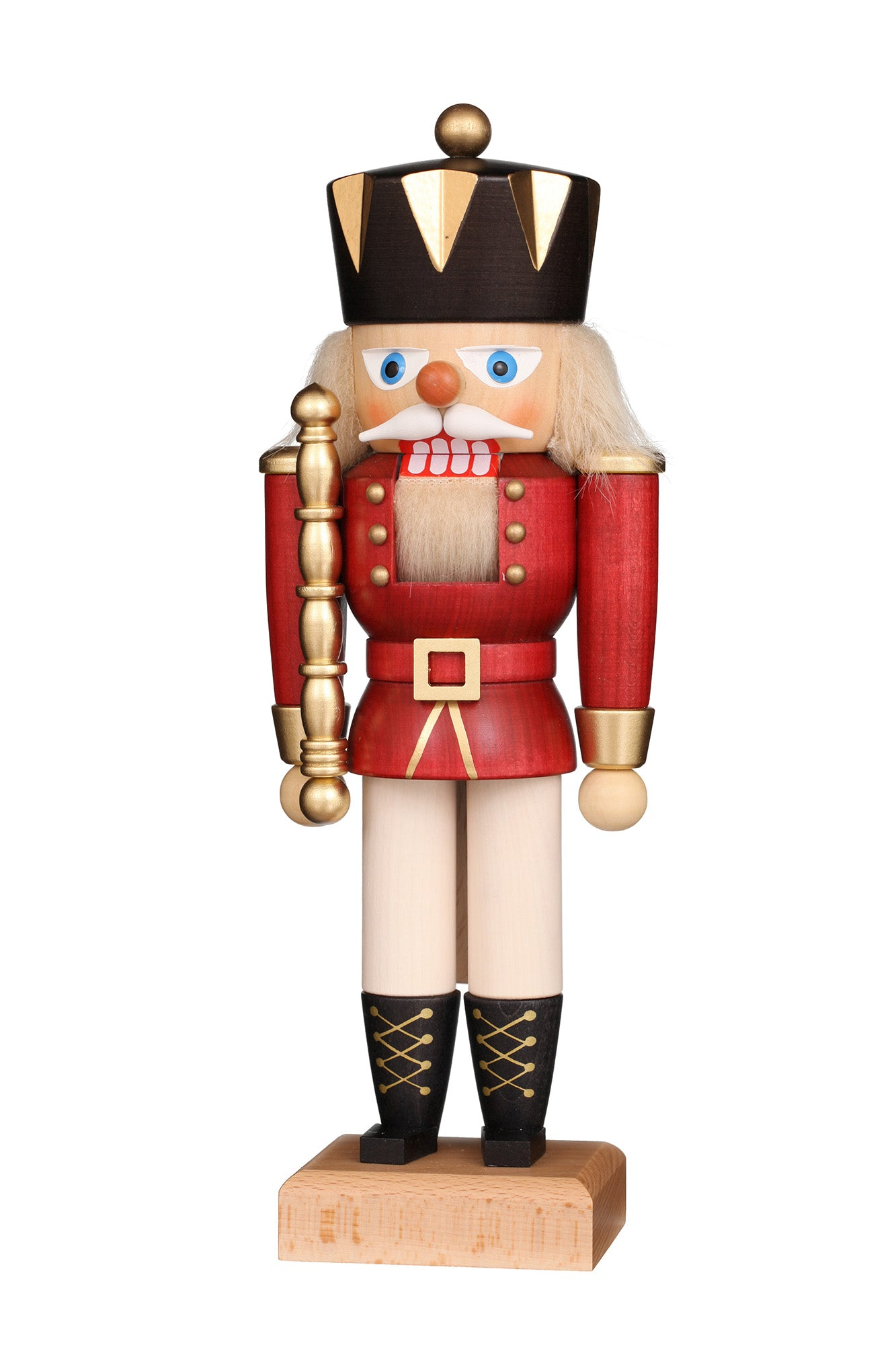 Nutcracker (Small) - King with Gloss Red Coat