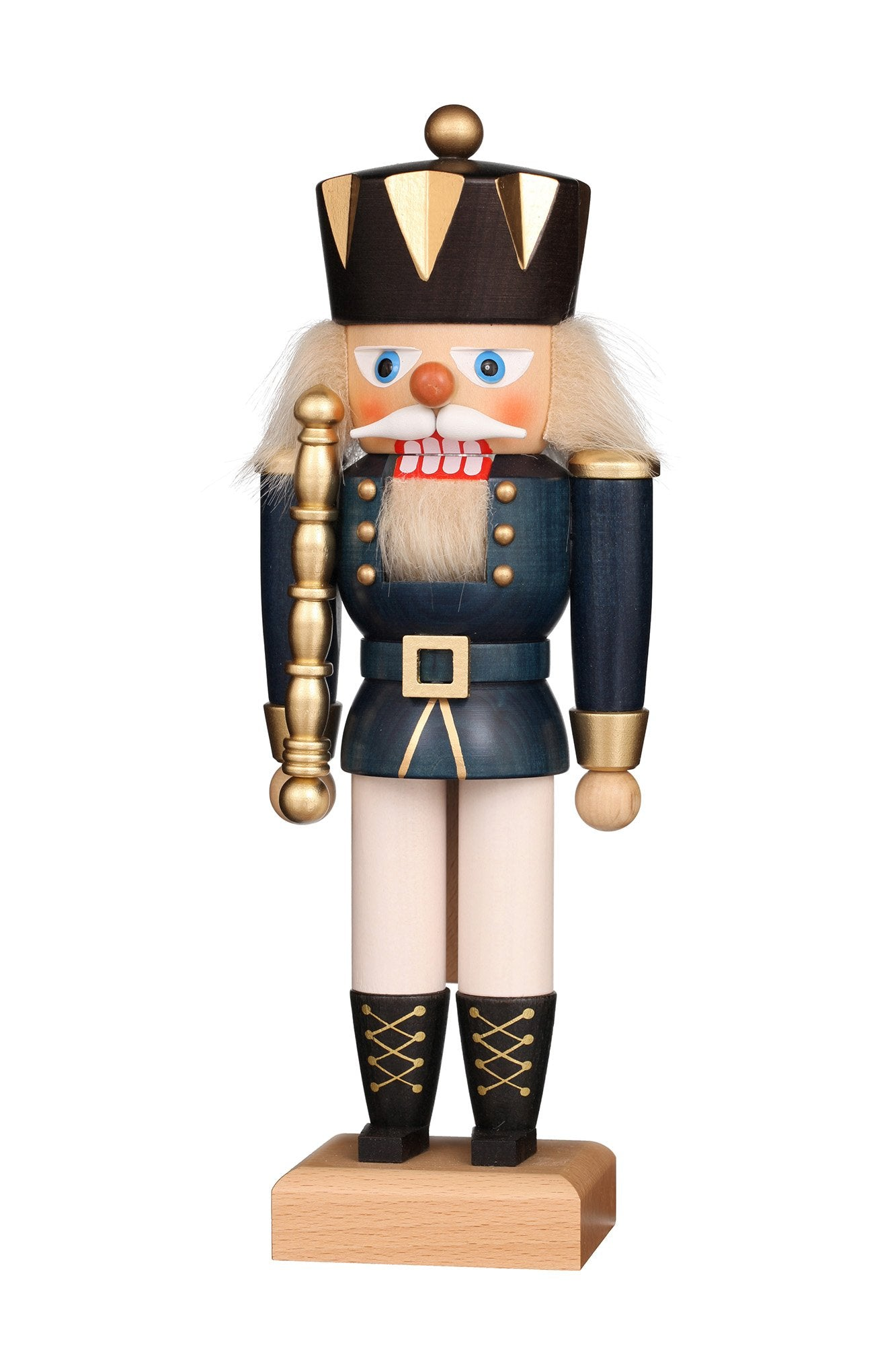 Nutcracker (Small) - King with Gloss Blue Coat