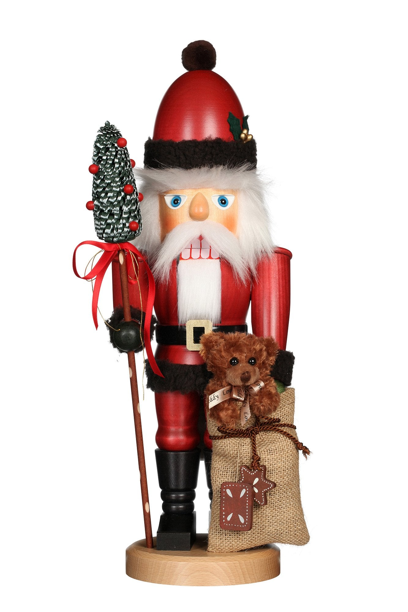Nutcracker (Classic) - Santa Dressed in Red with Teddy