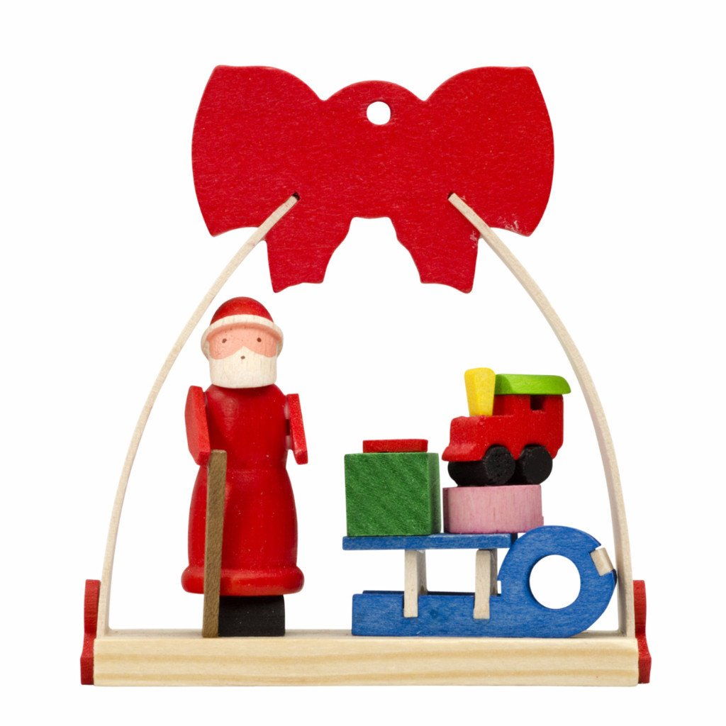 Dressed in a Bow - Christmas tree decoration - Santa and his sleigh