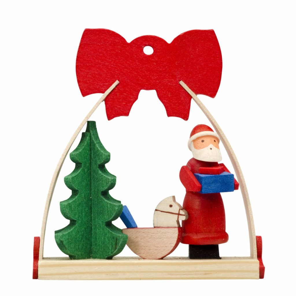 Dressed in a Bow - Christmas tree decoration - Rocking horse under the tree