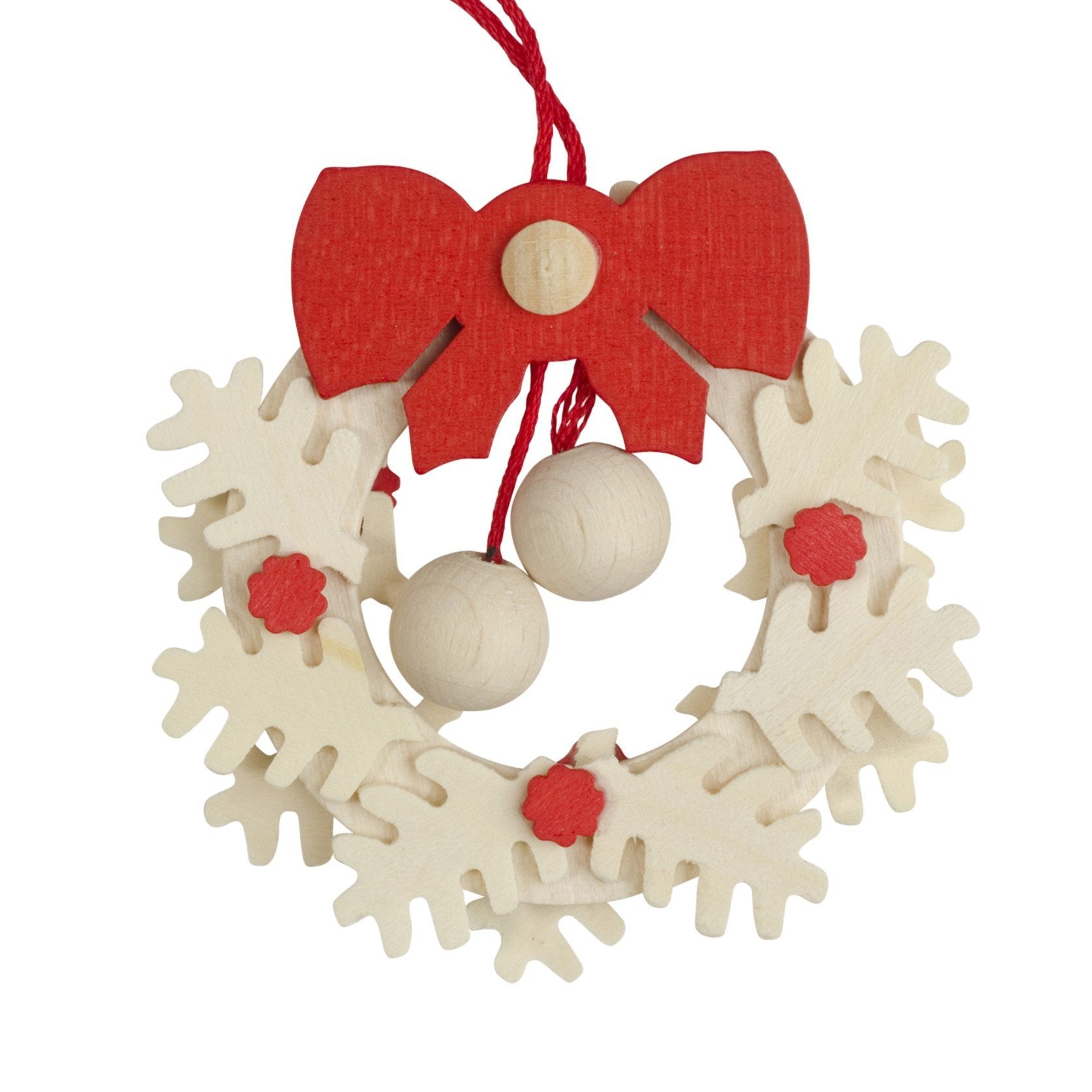 Textured Wreath with Stars - Christmas tree decoration