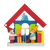 Christmas Village with Skiing Elves - Christmas tree decoration