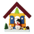 Christmas Village with Snowman Garden - Christmas tree decoration