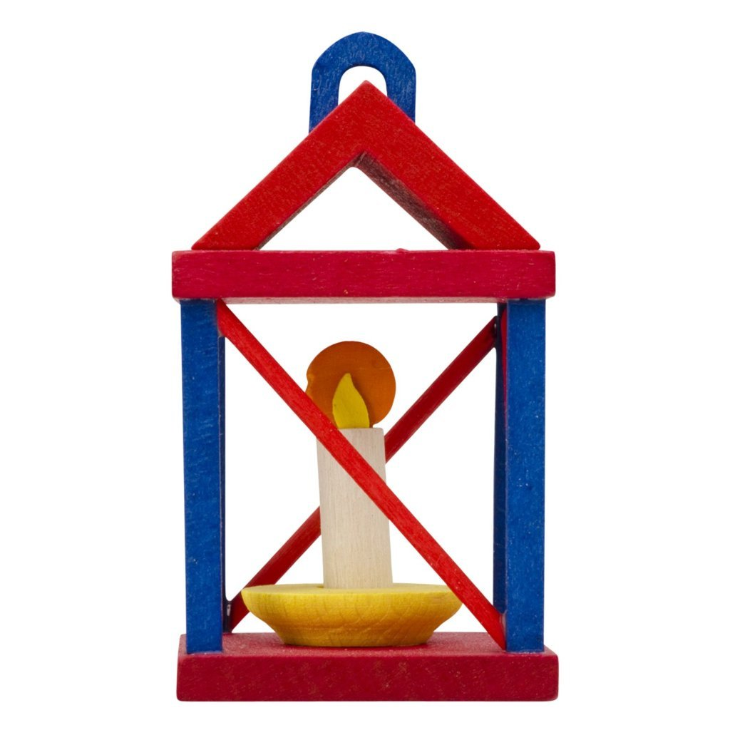 Yuletide Carol Lantern (3D) - Red and Blue - Christmas tree decoration