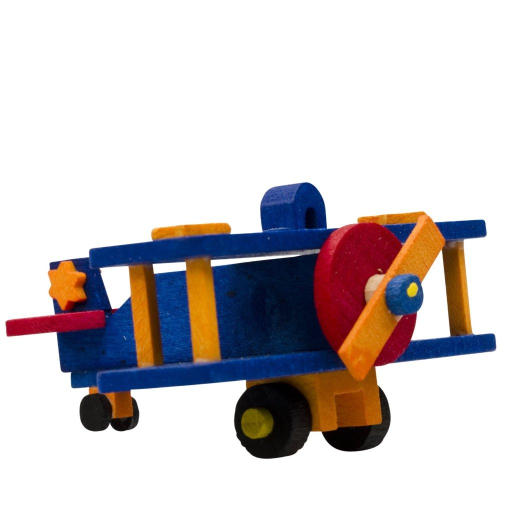 Mini Airplane (Blue) -  Christmas tree decoration