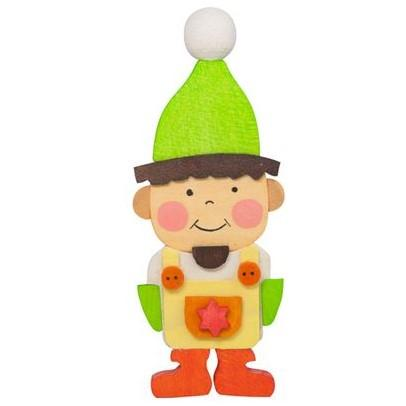 Gnome Children (Boy in Green) - Christmas Tree Decoration