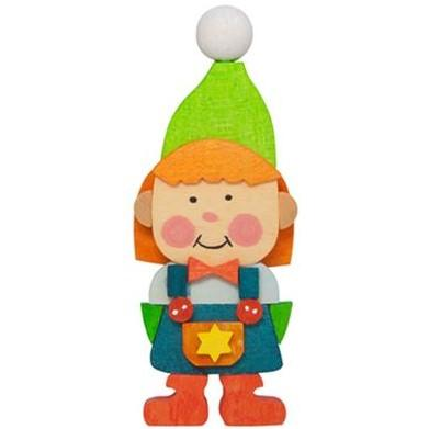 Gnome Children (Girl in Green) - Christmas Tree Decoration