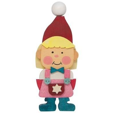 Gnome Children (Girl in Pink) - Christmas Tree Decoration