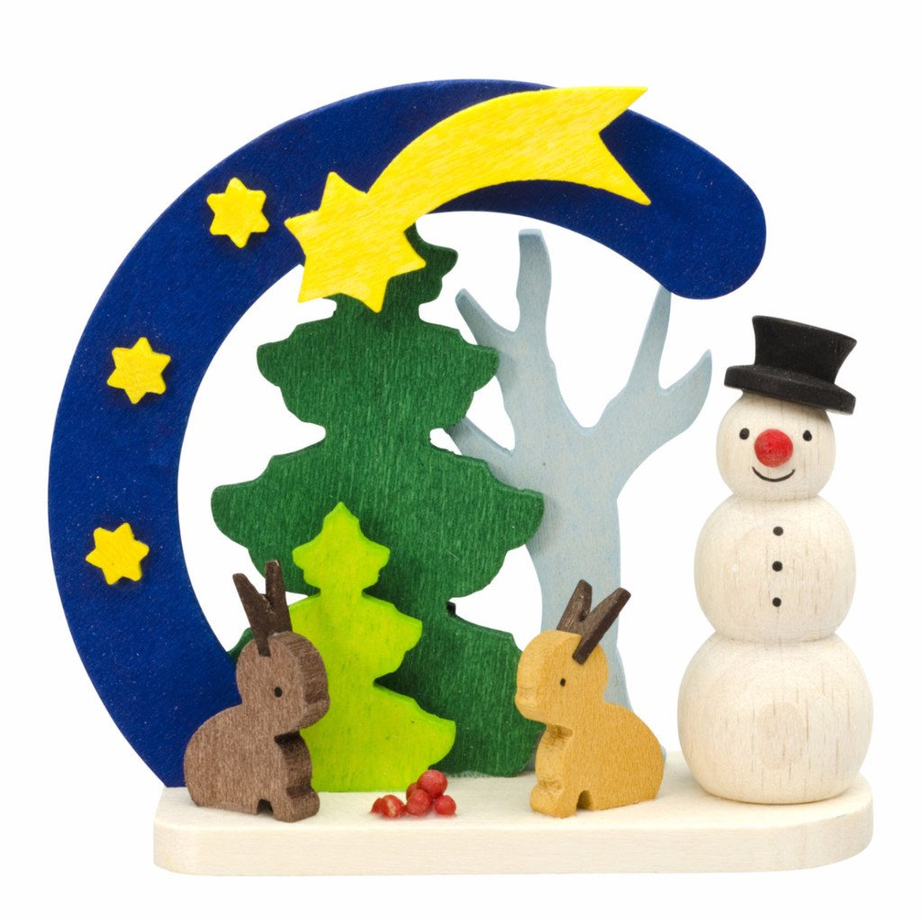 Snowman Arch - Forest bunnies - Christmas tree decoration