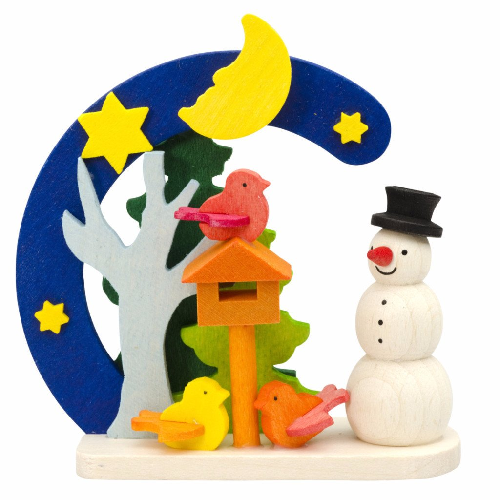 Snowman Arch - Feeding birds - Christmas tree decoration