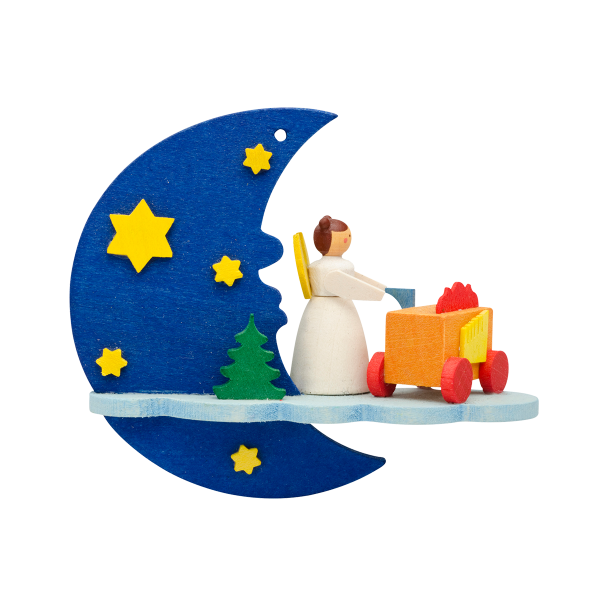 Angels by Moonlight - Organ Grinder - Christmas tree decoration