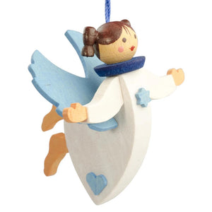 Floating Angel - Soft Blue - Christmas tree decoration