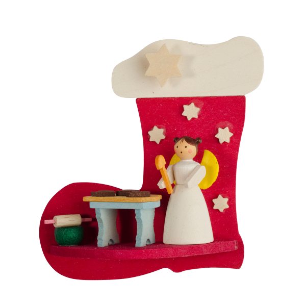 Angel in a stocking (Baking Gingerbread) - Christmas Tree Decoration