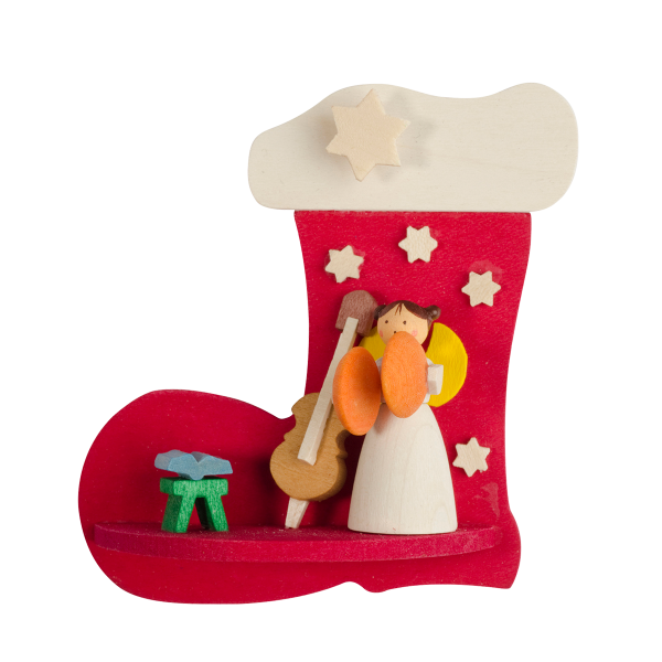 Angel in a stocking (Music Player) - Christmas Tree Decoration