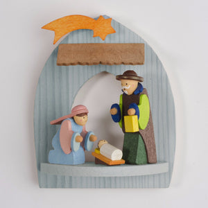Nativity - Holy Family and Manger - Christmas Tree Decoration