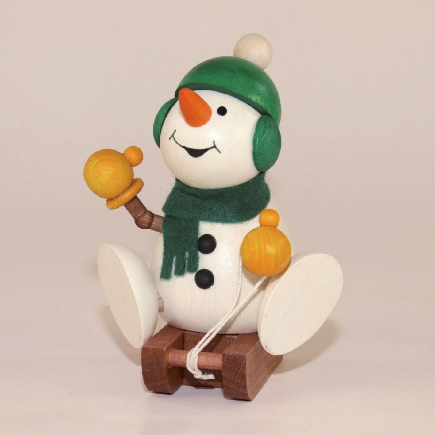 Weihnachtsmann Collectibles - Large Snowman with Sled