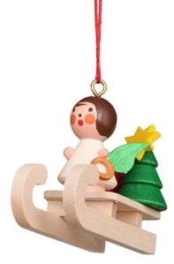 Mini angel - Sledding - Christmas tree decoration